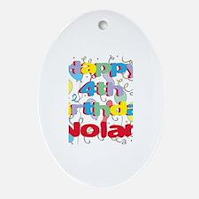 Nolan's 4th Birthday Oval Ornament