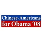 Chinese-Americans for Obama bumper sticker