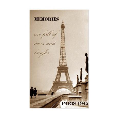 Paris Eiffel Tower Rectangle Sticker