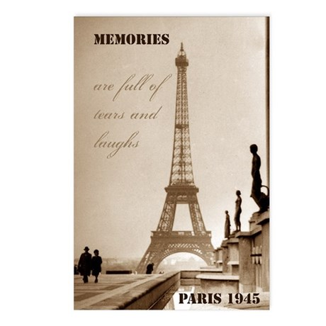 Paris Eiffel Tower Postcards (Package of 8)