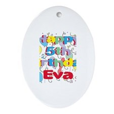 Eva's 5th Birthday Oval Ornament