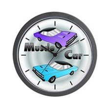 CLASSIC MUSCLE CAR DESIGN/GRAPHIC WALL CLOCK