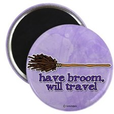 have broom, will travel Magnet
