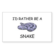 I'd Rather Be A Snake Rectangle Decal