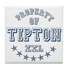 Property of Tipton Personalized Tile Coaster