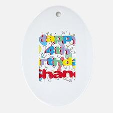 Shane's 4th Birthday Oval Ornament