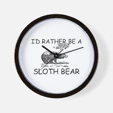 I'd Rather Be A Sloth Bear Wall Clock