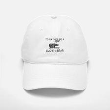 I'd Rather Be A Sloth Bear Baseball Baseball Cap