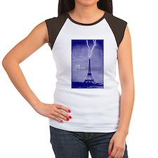 Paris Vintage Photo Women's Cap Sleeve T-Shirt
