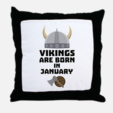 Vikings are born in January C6a7p Throw Pillow