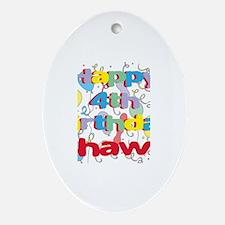 Shawn's 4th Birthday Oval Ornament