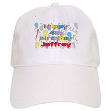 Jeffrey's 4th Birthday Baseball Cap