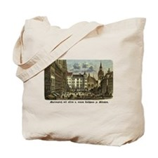 Munich Old Engraving Tote Bag