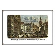Munich Old Engraving Banner