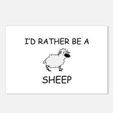 I'd Rather Be A Sheep Postcards (Package of 8)