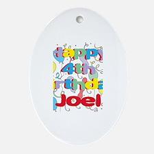 Joel's 4th Birthday Oval Ornament