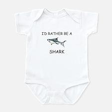 I'd Rather Be A Shark Infant Bodysuit