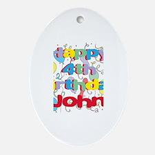 John's 4th Birthday Oval Ornament