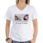 Creation of Man - 8th Day Women's V-Neck T-Shirt