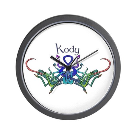 Kody's Celtic Dragons Name Wall Clock
