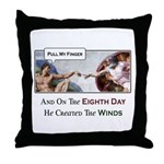 Creation of Man - 8th Day Throw Pillow