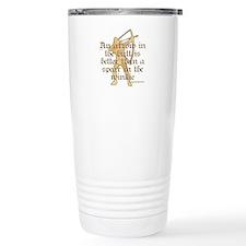 Arrow vs. Spear Travel Coffee Mug