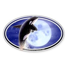 Orca Moon Killer Whale Decal Oval Decal