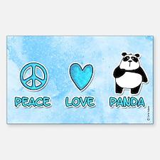 peace, love, panda Rectangle Decal