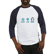 peace, love, panda Baseball Jersey