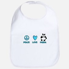 peace, love, panda Bib