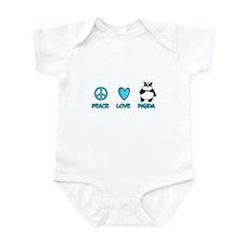 peace, love, panda Infant Bodysuit
