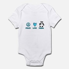 peace, love, panda Infant Bodysuit
