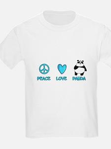 peace, love, panda T-Shirt