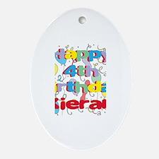 Kieran's 4th Birthday Oval Ornament