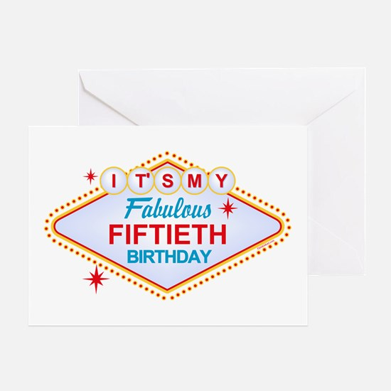 Las Vegas Birthday 50 Greeting Card