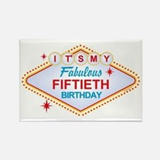 Las Vegas Birthday 50 Rectangle Magnet