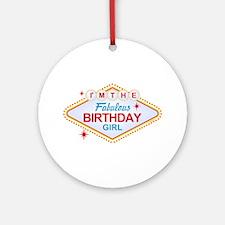 Las Vegas Birthday Girl Ornament (Round)