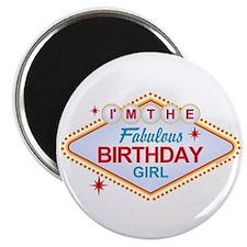 Las Vegas Birthday Girl Magnet