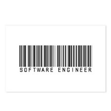 Software Engineer Barcode Postcards (Package of 8)
