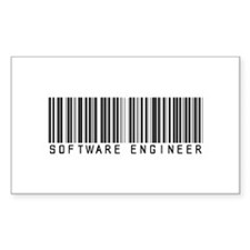 Software Engineer Barcode Rectangle Decal