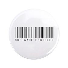 "Software Engineer Barcode 3.5"" Button"