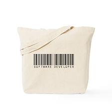 Software Developer Barcode Tote Bag