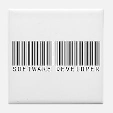 Software Developer Barcode Tile Coaster
