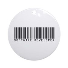 Software Developer Barcode Ornament (Round)