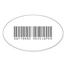 Software Developer Barcode Oval Decal