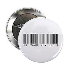 """Software Developer Barcode 2.25"""" Button"""