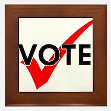 Cute Vote Framed Tile