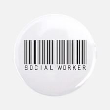 "Social Worker Barcode 3.5"" Button (100 pack)"