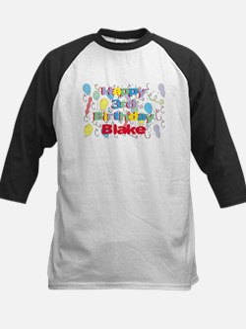 Blake's 3rd Birthday Kids Baseball Jersey