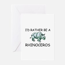 I'd Rather Be A Rhinoceros Greeting Cards (Pk of 1